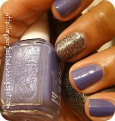Essie Smooth Sailing and Nicole's Nickel by Nicole. #nail #polish