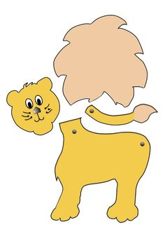 easy craft for kids a lion puppet with moving head and tail and free printable template