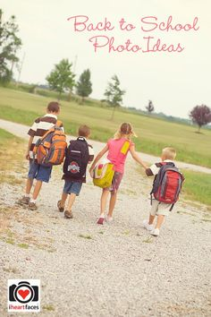 Easy and Simple Back to School Photo Ideas. iHeartFaces.com
