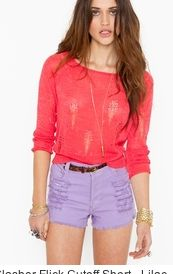 coral with purple! really really badly want  lilac shorts ):