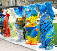 Living together in Peace and Harmony - United Buddy Bears in Stuttgart, Germany - http://www.1pic4u.com/2014/05/15/living-together-in-peace-and-harmony-united-buddy-bears-in-stuttgart-germany/