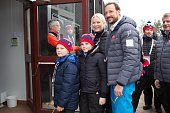 Prince Sverre Magnus of Norway, Princess Ingrid Alexandra of Norway, Crown Princess Mette-Marit of Norway and Crown Prince Haakon of Norway attend the FIS Nordic World Ski Championships on March 1, 2015 in Falun, Sweden