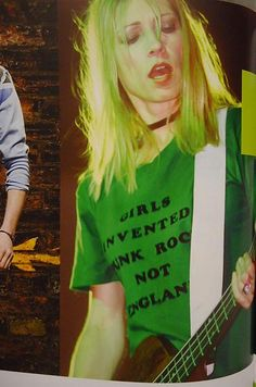 """Girls invented punk rock, not England"" - great t-shirt. Kim Gordon of Sonic Youth Kim Gordon, Riot Grrrl, Hard Rock, Photo Rock, Rock And Roll, Jazz, Look Man, Sonic, Kim Deal"