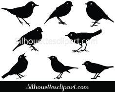 Ovenbird Vector Graphics Download Bird Silhouette