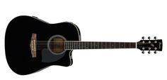 Wysokiej jakości czarna gitara marki Ibanez. Na tej gitarze już na prawdę można fajnie pograć i cieszyć się świetną jakością gry