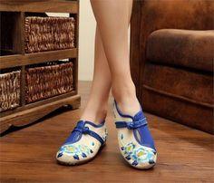 7c83c62d1d1 2 Colors Autumn Fashion Women s Shoes Old Peking Demin Flats
