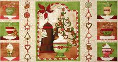 HOT Apple Cider 100% cotton fabricpanel cotton fabric 23 inch X 44 inches wide #NancyMinkLicensedforWilmingtonPrint