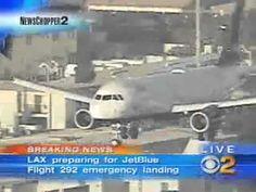 ▶ Great jet blue landing at LAX. landing gear failure. Pilot does amazing landing - YouTube