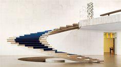 De trap van het ministerie van buitenlandse zaken in het Itamaraty Palace van architect Oscar Niemeyer.