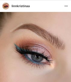 EYES: - in cornelius, brady, bandit, frog (lid) and ibiza mixed with as liner - mint and ocean eyeliner pencils Crayon Eyeliner, Eyeliner Shapes, How To Do Eyeliner, Simple Eyeliner, Perfect Eyeliner, Makeup Geek Cosmetics, Colourpop Cosmetics, Makeup Inspo, Makeup Inspiration