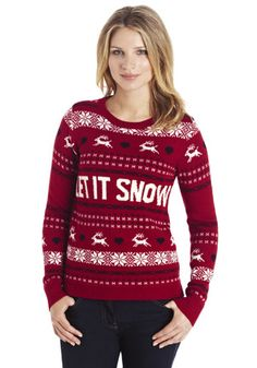 F&F Let It Snow Christmas Jumper