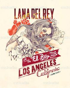 Lana Del Rey Poster by Isa Panic Monsta on CreativeAllies.com