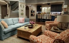 """Coastal Chic design for one of the sets in """"Grace and Frankie"""" series by Netflix"""