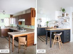 Before and After: A Stylish DIY Kitchen Makeover on a Budget » Curbly | DIY Design Community