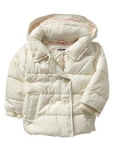 Warmest peacoat puffer, Gap