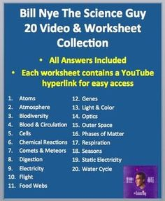 Bill Nye The Science Guy Motion Worksheet Answers ...