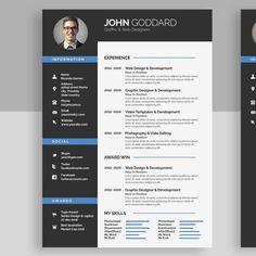 Resume Models, Cv Template, Design Templates, Cv Curriculum Vitae, Licence Lea, Stationery Templates, Modern Resume, Resume Cv, Printable Designs