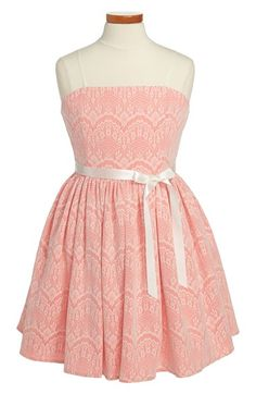 Un Deux Trois 'Lace Look' Party Dress (Big Girls) available at #Nordstro