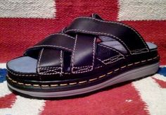 Dr Martens Size 5 UK 9508 Black Sport Open Mule Leather Sandals Made England | eBay FREE U.S. SHIPPING!!!