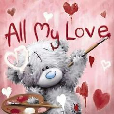 All My Love ♡ Tatty Teddy My lovely bear Tatty Teddy, Blue Nose Friends, Teddy Pictures, Cute Pictures, Calin Gif, Urso Bear, Diamond Drawing, Love Bear, Cute Teddy Bears