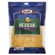 Kraft Natural Cheese, Finely Shredded, Mexican Style, Taco