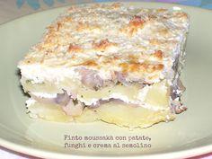 Agenda di Nico: Finto moussakà con patate, funghi e crema di semolino