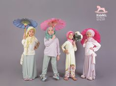 A Busana Untuk Fashion Show Muslimah - Baju Muslim Anak Buat Fashion Show Little Girl Fashion, Kids Fashion, Fashion Show, Fashion 2020, Hijabi Girl, Girl Hijab, Baby Pictures, Cute Pictures, Baby Hijab