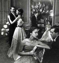 Couples at a dance, 1950s. By Robert Doisneau.