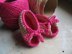 As Receitas de Crochê: Peep Toe Bebê em crochê