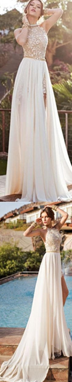 2015 Newest Style Prom Gowns Lace Appliques Beadings Sexy Long Chiffon Evening Dress _2014 Evening Dresses_Evening Dresses_Special Occasion Dresses_Buy Cheap Dress, Wholesale Dresses from dresses factory at DIYouth.com