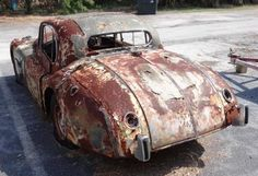 See How to Determine if a Classic Car is Worth Restoring: 1956 Jaguar XK140 Fixed Head Coupe