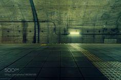 http://500px.com/photo/188386589 LINE #12 by HirohideNakahashi -@ Doai station Gunma Japan.. Tags: yellowtravellightconcretejapangreendarkundergroundstationgraytunnelgunma