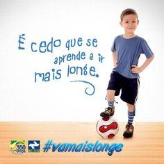 O esporte é um excelente caminho para disciplina. Incentive seus filhos. #vamaislonge
