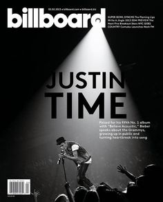 Billboard (US) — This is a pretty awesome cover for Justin Bieber, I love the black and white aspect :) Gotta love JB <3