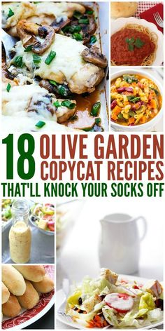 The best Olive Garden copy cat recipes out there! From their salad dressing and breadsticks, to the yummy pasta, this has got it all!