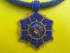 Land of Bead Fantasies: Cobalt Flower