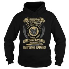 MAINTENANCE SUPERVISOR T-Shirts, Hoodies. ADD TO CART ==► Funny Tee Shirts