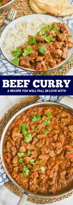 This Beef Curry is full of delicious flavor and melt in your mouth pieces of beef. My family loves this recipes so much, and I know yours will too! Curry Recipes, Wine Recipes, Beef Recipes, Easy Weeknight Meals, Easy Meals, Slow Cooker Beef Curry, Curry Ingredients, Easy Family Dinners, Best Comfort Food