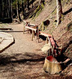 Die grosse Holzkugelbahn ist eine der Stationen auf dem Themenerlebnisweg in Ebn… The large wooden ball track is one of the stops on the themed adventure trail in Ebnat-Kappel Short Trip, Good To Know, Switzerland, Garden Design, Trail, Around The Worlds, Tours, Adventure, Allotment