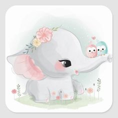Cute Cartoon Elephant And Balloons Illustration Cute Elephant Drawing, Baby Animal Drawings, Cartoon Elephant, Cute Drawings, Illustration Mignonne, Cute Illustration, Cartoon Mignon, Baby Animals, Cute Animals