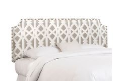Ellis Nailhead Headboard, Mushroom/White on OneKingsLane.com