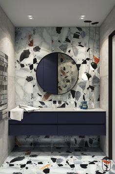 How to design a modern bathroom Washroom Design, Bathroom Design Luxury, Modern Bathroom Design, Home Interior Design, Bathroom Inspiration, Interior Inspiration, Toilette Design, Room Decor, Behance