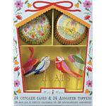 Floral Birds Treat Cupcake Kit