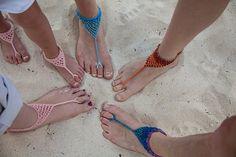 Barefoot beach sandals Free Crochet Pattern