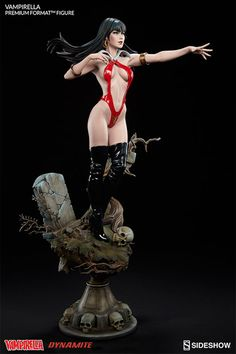 Sideshow Collectibles is proud to present the Vampirella Premium Format Figure. Designed by renowned pinup artist, Stanley 'Artgerm' Lau, the mesmerizing classic horror pulp icon rises up in an eerie