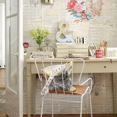 home offices   Pretty home office   Home office decorating ideas   Country Homes ...