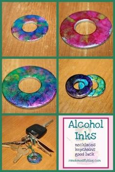 alcohol ink washer tutorial by Debbie M.