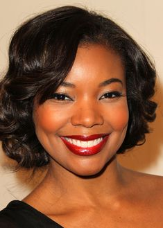 blacks girls and make up | Gabrielle Union Red Lipstick - Gabrielle Union Makeup - StyleBistro