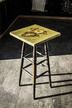 coffee bar table for true bikers tabele with motorcycle motifs