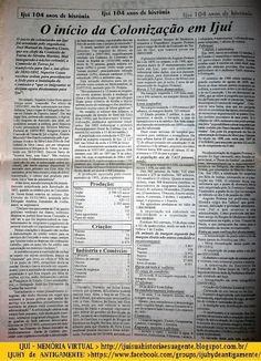 IJUÍ - RS - Memória Virtual: O início da Colonização em Ijuí - texto do…